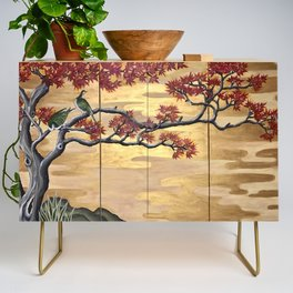 Japanese Fall Leaves Credenza
