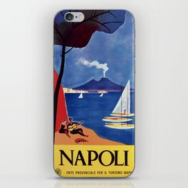 Napels Italy retro vintage travel ad iPhone Skin