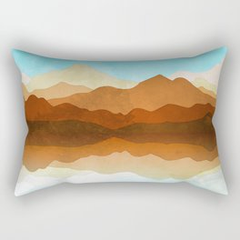 Western Sky Reflections In Watercolor Rectangular Pillow