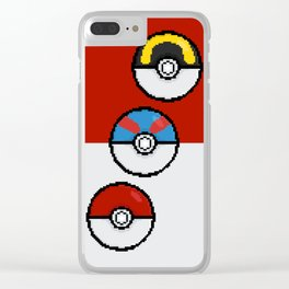 Poke Balls Clear iPhone Case