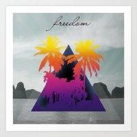 freedom Art Prints featuring freedom by mark ashkenazi