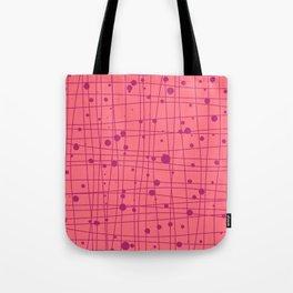 Woven Web pink Tote Bag