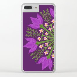 Tulips and Sakuras Clear iPhone Case