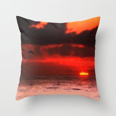 Pelican at Sunrise Throw Pillow