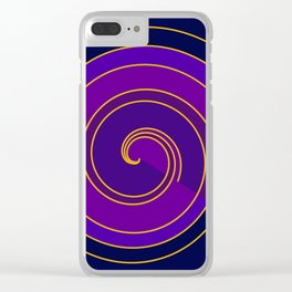 Rolling spiral Clear iPhone Case