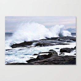 Ferocious Ocean -- Peggy's Cove, Nova Scotia  Canvas Print