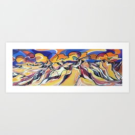 Sunset Over the Icefield Art Print