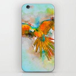 High as a Macaw iPhone Skin