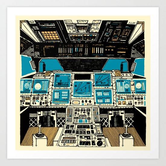 To Outer Space! Art Print