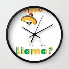 Como Te Llama? Como Te Llamas? Whats Your Name design Wall Clock