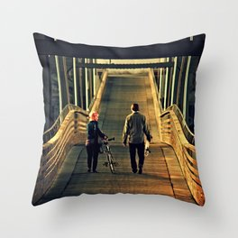 Walking With Wheels Throw Pillow