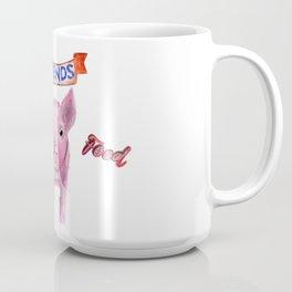 Friends, not food. (vegan pig watercolor) - prints/clothing/wall tapestry/coffee mug/home decor Coffee Mug