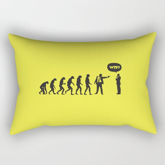 WTF? Evolution! Rectangular Pillow