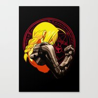fullmetal alchemist Canvas Prints featuring YELLOW HAIR ALCHEMIST by BradixArt
