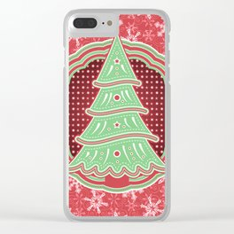 Xmastrees_03c Clear iPhone Case