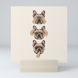 No Evil  Frenchie Mini Art Print