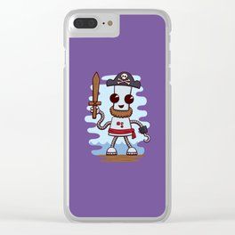Pirate Ned Clear iPhone Case
