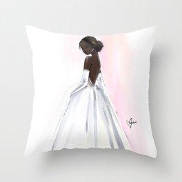 Debutante Throw Pillow