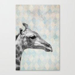 Retro Giraffe Canvas Print