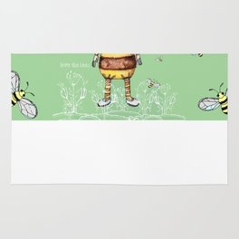 Save the BEES Whimsical Bee Girl Rug