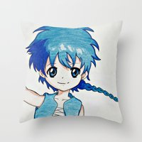 aladdin Throw Pillows featuring Anime Aladdin by Ruby_Dag