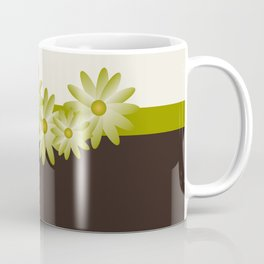 Green Daisy Coffee Mug