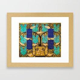 """Koloman (Kolo) Moser """"Vine tendrils, design for the altar frieze at the Steinhof Church in Vienna"""" Framed Art Print"""