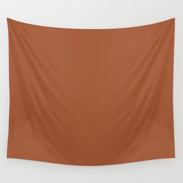 Kauai Soil Clay Terracotta Rust Solid  Wall Tapestry
