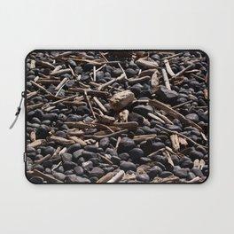 Yaquina Head Rocks and Driftwood Laptop Sleeve