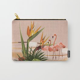Flamingo Cocktail Carry-All Pouch