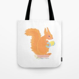 Concertina Squirrel Tote Bag