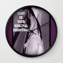 "'Ariana , BRIDE OF ORLOCK ' , from: "" Nosferatu vs. Father Pipecock & Sister Funk (2014)"" Wall Clock"