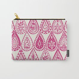 Indian raindrops pink Carry-All Pouch