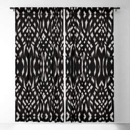 Tribal Celtic Abstract Black Grey Mancave Blackout Curtain