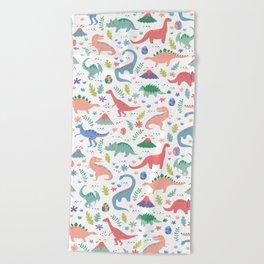 Dinos + Volcanoes - Coral Beach Towel