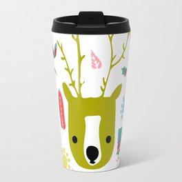 cute Christmas deer Travel Mug
