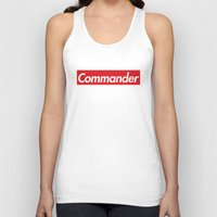 supreme Tank Tops featuring supreme commander by Arielle