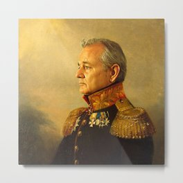 Bill Murray - replaceface Metal Print