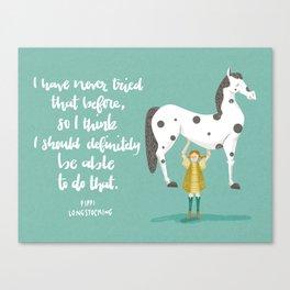 Motivational Pippi Canvas Print