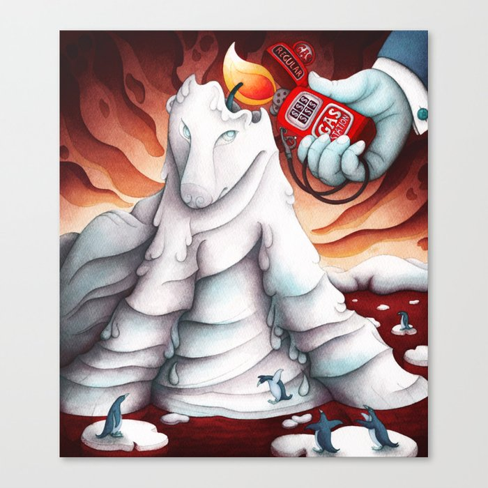 Oil and Climate Change Canvas Print
