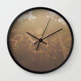 Fall Sunset Wall Clock