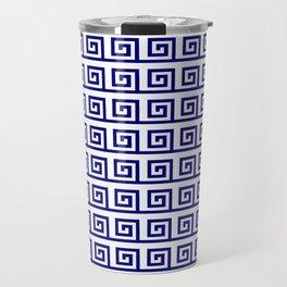 Antic pattern 19- roman or greek pattern - blue Travel Mug