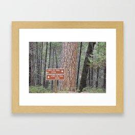 Lewis Creek Hiking Trail - CA Framed Art Print