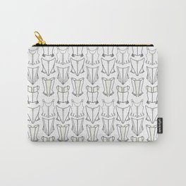 Black and White Corset Pattern Print Carry-All Pouch