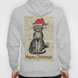 Meowy Christmas Holiday Kitty Hoody