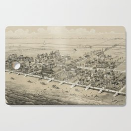 Vintage Pictorial Map of Sea Isle City NJ (1885) Cutting Board