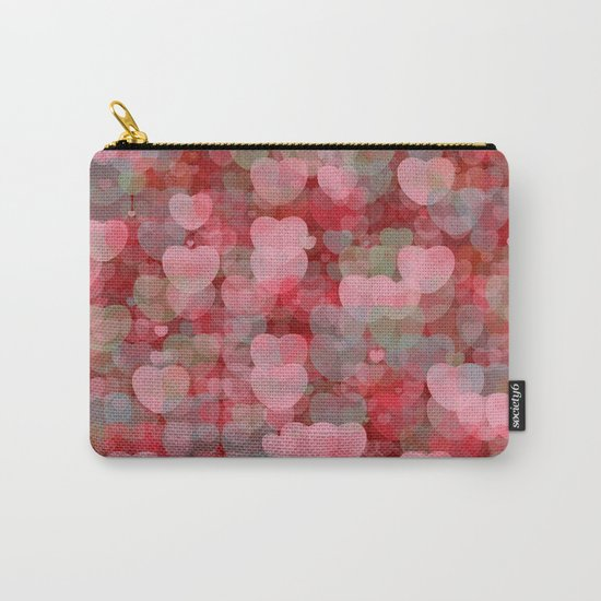 Hearts! Hearts! Hearts! Carry-All Pouch