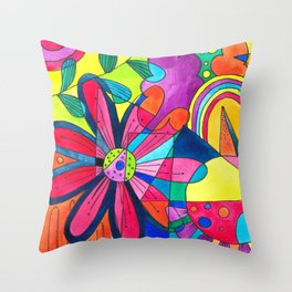 Burst of colours in Spring Throw Pillow