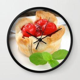 Cherry Tarts Wall Clock