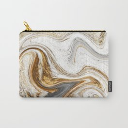 Gold, White, and Gray Abstract Painting Carry-All Pouch